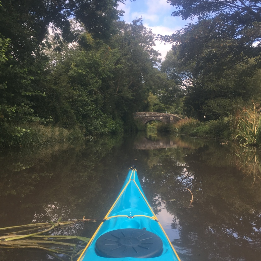 Sea kayak on the canal